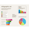 Infographic set background vector image vector image