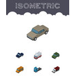 Isometric transport set of auto armored truck