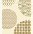 japanese seamless patterns inside big circles vector image