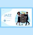 jazz singer concept vector image
