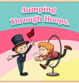 Jumping vector image vector image