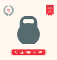 kettlebell icon symbol vector image