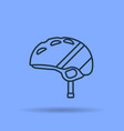linear icon of helmet of a skier or snowboarder vector image vector image