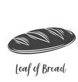 loaf bread glyph vector image vector image