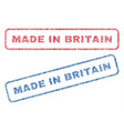 made in britain textile stamps vector image vector image