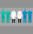 medical doctor uniform hospital nurse coat and vector image vector image