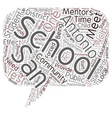 Mentors And Partners In The San Antonio Schools vector image vector image