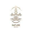minimal doodle landscape logo vector image vector image