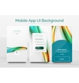 Mobile application interface background design vector image vector image