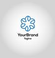 modern healty leaf logo template vector image