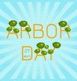 national arbor day text arbor day in the form of vector image