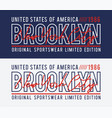 new york brooklyn typography design for t-shirt vector image vector image