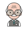 old man teacher with glasses and uniform clothes vector image vector image