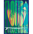 on the theme of surf and surf club florida grunge vector image vector image