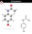 Paracetamol molecular structure