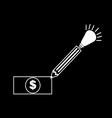 pen money icon vector image vector image