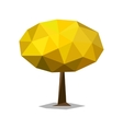 Polygonal tree abstract low poly vector image vector image
