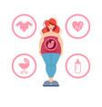 pregnant woman vector image
