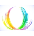Rainbow colors abstract lotus flower symbol vector image