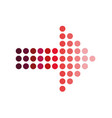 red dotted arrows on white background red dot vector image vector image