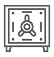 safe deposit line icon finance and currency bank vector image