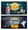 Scary comic design for Happy Halloween holidays vector image vector image
