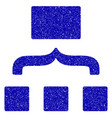 scheme icon grunge watermark vector image vector image