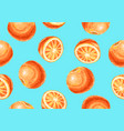 seamless pattern with oranges and slices vector image