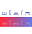 set of 5 furniture and home decor icons vector image