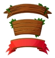 Set of dark wooden banners vector image vector image