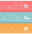 Set of flat line elements vector image