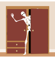 Skeleton in the closet vector image vector image