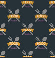 spoon fork seamless pattern cooking badge vector image vector image