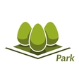 Spring park abstract symbol with bushes vector image vector image