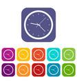 wall clock icons set flat vector image vector image