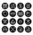 website menu navigation round line icons flat des vector image vector image