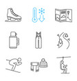 winter activities linear icons set vector image vector image