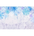 Winter snowstorm horizontal background vector image vector image