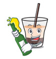 with beer white russian mascot cartoon vector image