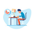 working time at workplace vector image