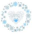 xmas card with snowflakes vector image vector image