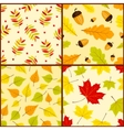 four autumn seamless patterns vector image