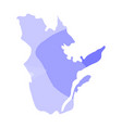 political map of quebec vector image
