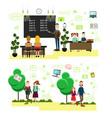 school people concept in flat vector image