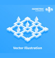 abstract geometric composition 3d pixel art vector image vector image