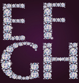 Alphabet of diamonds efgh vector | Price: 1 Credit (USD $1)