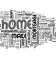 are you ready for a home text word cloud concept vector image vector image