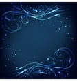 Beautiful shiny pattern on dark background vector image