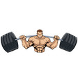 bodybuilder gym mascot grit vector image vector image
