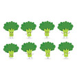 broccoli emoticon n1 vector image